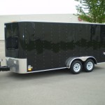 Black enclosed trailer 001