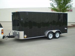 Black enclosed trailer 001