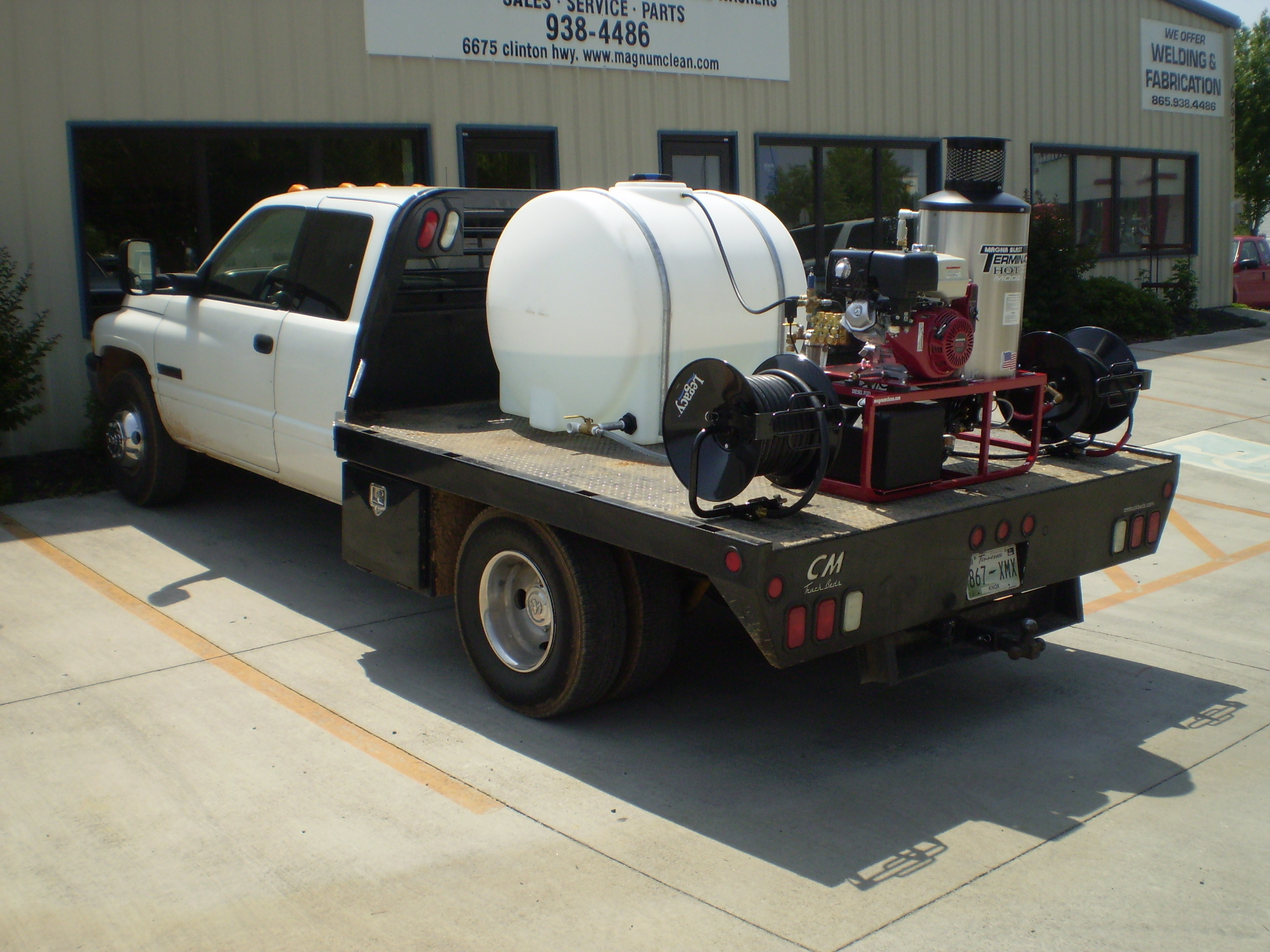 Truck Bed Mounted Pressure Washer